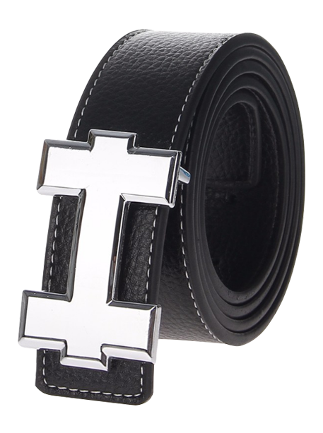 H Synthetic Leather Belt